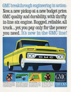 Vintage 1964 GMC Yellow Pickup Truck Ad