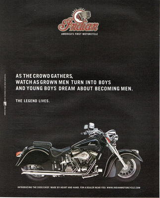 Vintage 2000 Indian Chief Motorcycle Ad