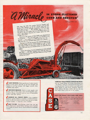 Vintage 1950 Case Field-Forage Harvester Ad