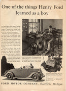 Vintage 1935 Ford V-8 Roadster Car Ad