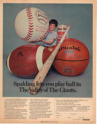 Vintage 1969 Spalding Valley Of Giants Ad