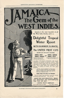 Antique 1902 Jamaica Gem Of The West Indies Winter Resort Ad