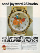 Vintage 1969 Jay Ward Bullwinkle The Moose Watch Ad