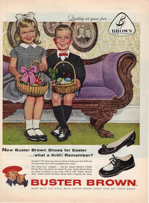 Vintage 1959 Buster Brown Easter Shoes Ad
