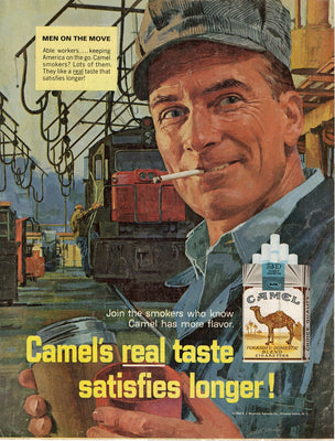 Vintage 1966 Camel Cigarettes Men On The Move Ad