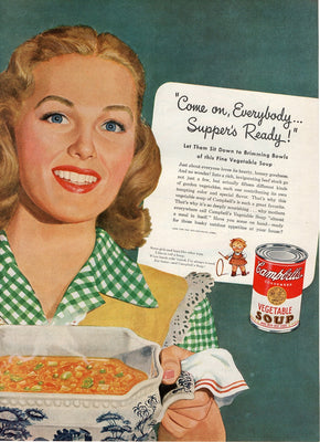 Vintage 1946 Campbell's Vegetable Soup Ad