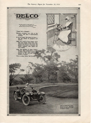 Antique 1914 Delco Car Ad