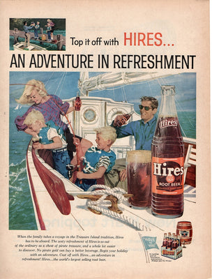 Vintage 1959 Hires Root Beer Soda Ad