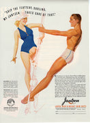 Vintage 1938 Jantzen Wisp O Weight Swim Suits Ad