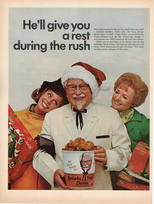 Vintage 1968 Kentucky Fried Chicken Colonel Sanders Ad