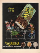Vintage 1955 Mars Chocolate Toasted Almond Candy Bar Ad