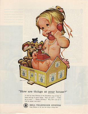 Vintage 1963 Bell Telephone System Baby Ad