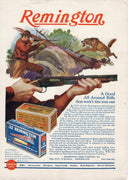 Vintage 1927 Remington Arms Co Rifel & Bullets Ad
