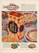 Vintage 1941 Nabisco Ritz Crackers National Biscuit Company Ad