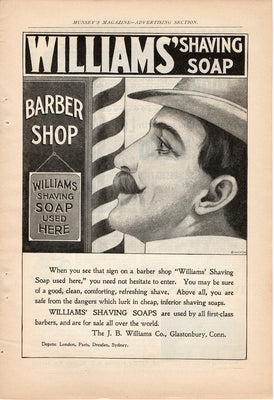 Antique 1899 Williams Shaving Soap Ad