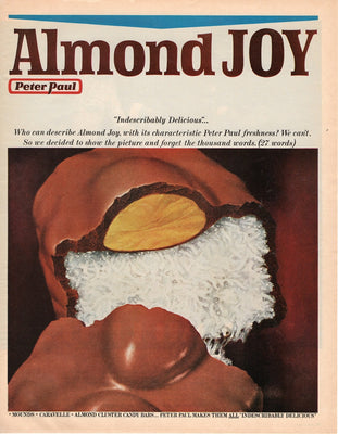 Vintage 1969 Almond Joy Peter Paul Candy Bar Ad
