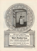 Antique 1921 Walter Baker & Co Baker's Breakfast Cocoa Ad
