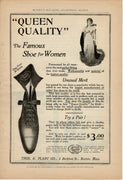 Antique 1899 Thos G Plant Co Queen Quality Famous Shoes For Women Ad