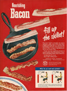Vintage 1950 Bacon American Meat Institute Ad