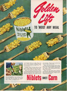 Vintage 1951 Jolly Green Giant Niblets Sweet Corn Ad