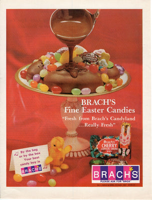 Vintage 1967 Brach's Fine Easter Candies Candy Ad