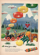 Vintage 1945 Life Savers Candy Train Ad