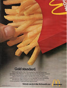 Vintage 1980 McDonald's Restaurant French Fries Ad