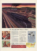 Vintage 1941 PRR Pennsylvania Railroad Train Ad