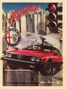 Vintage 1984 Alfa Romeo GTV-6 Red Car Ad