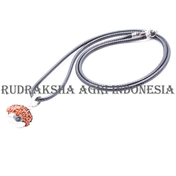 13 MUKHI RUDRAKSHA NECKLACE SILVER CAPPING