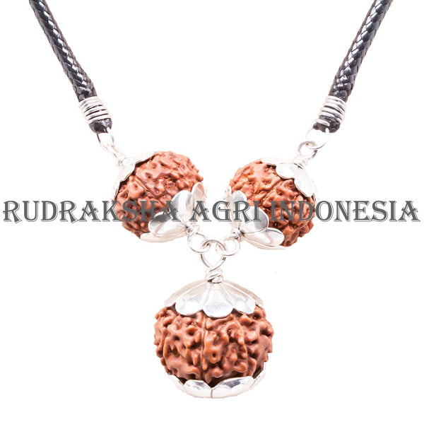 Business Necklace Silver Rudraksha B