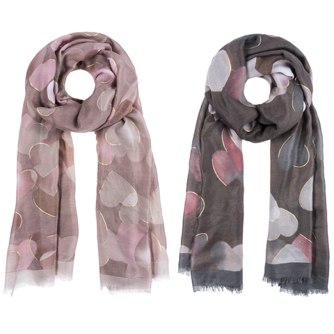 Heart Scarves