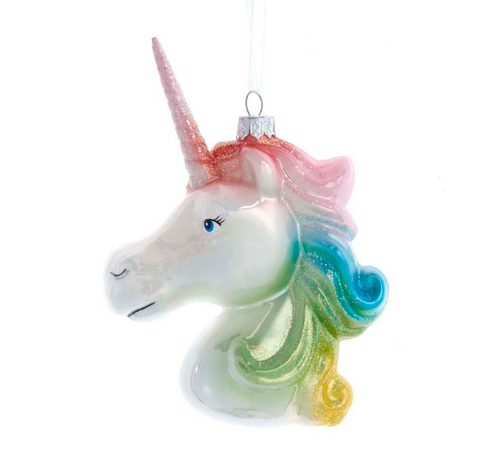 Pastel Unicorn Head Ornament