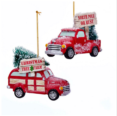 Cozy Cottage Truck Ornaments