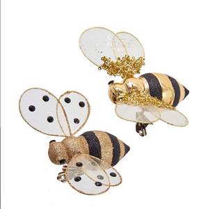 Gold Bee Clip