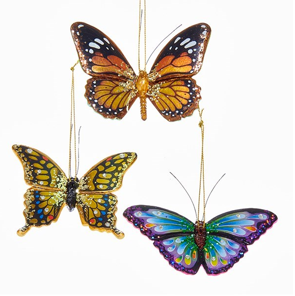 Butterfly Resin Ornament 2.25-3.25