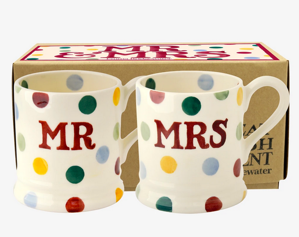 Emma Bridgewater Mr & Mrs Mugs 1/2 set
