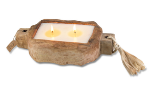 Driftwood Tray 24oz Hand Poured Candle by Himalayan Trading