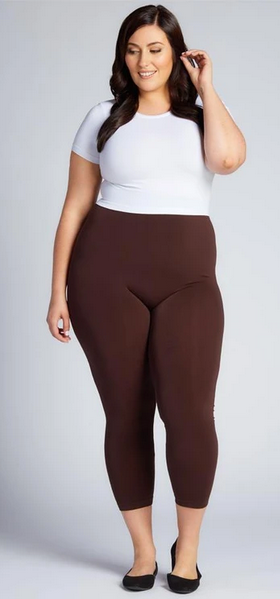 3/4 Plus Size Bamboo Leggings