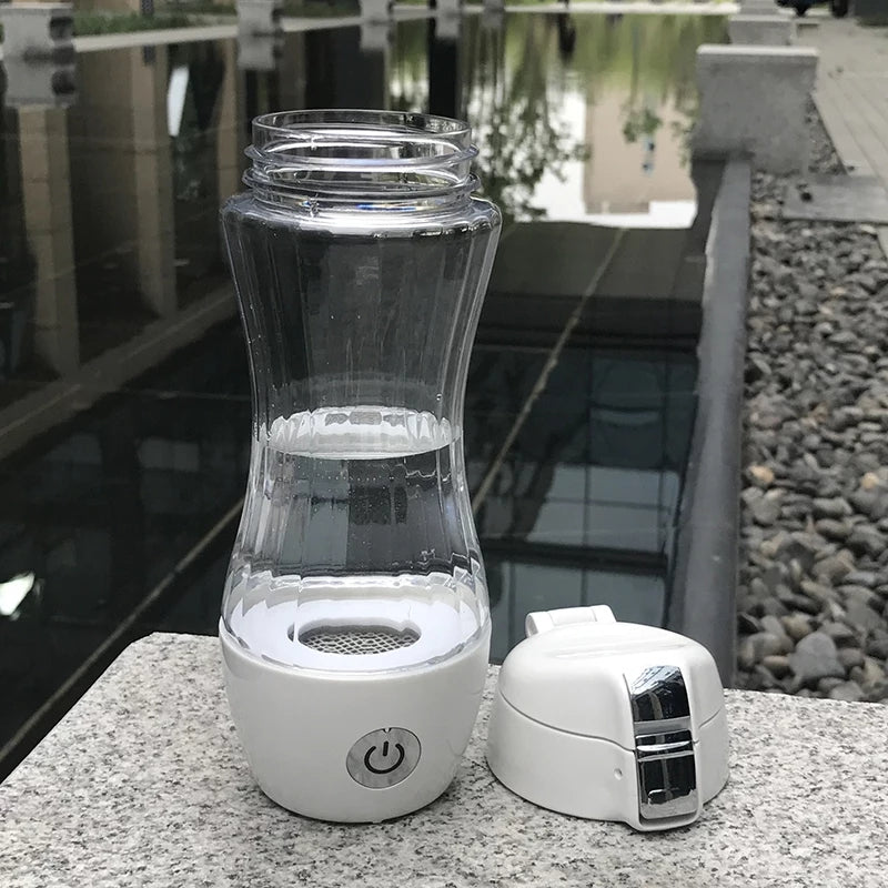 SPE1 2-in-1 Supercharged Ionized Hydrogen Water Portable Infuser use with Mineral Water Bottles Too