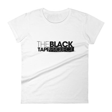 Women's White Short Sleeve Black Tape Project T-Shirt - The Black Tape Project