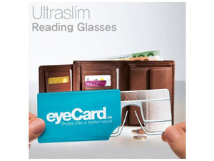 eyeCard Pocket Readers. Reading glasses size of a credit card. Promotion.