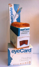 Load image into Gallery viewer, eyeCard Pocket Readers. Reading glasses size of a credit card. Retail.