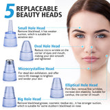 Blackhead Remover Skin Care Face Deep Pore Vacuum Acne Pimple Removal Vacuum Suction Facial Diamond Dermabrasion Beauty Tool
