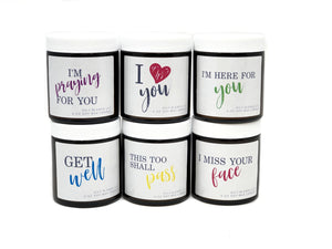 Message Candles - 6 oz Soy Wax Candles