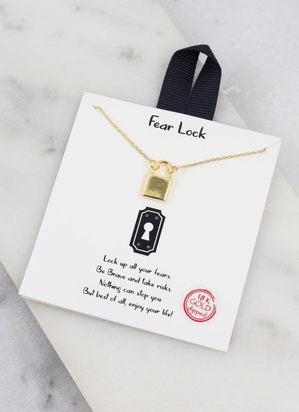 No Fear Lock Necklace