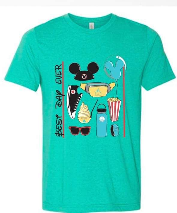 Teal Best Day Tee