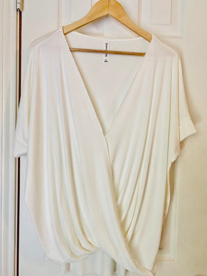 Surplice Drape Top