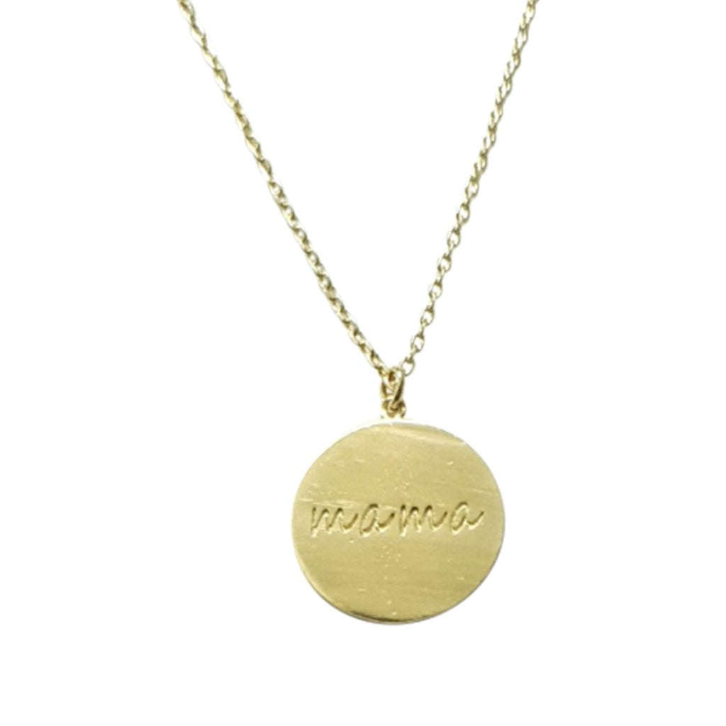 Gold Mama Disc Necklace