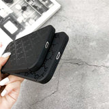 GG Imprint Total Matte Black iPhone Case